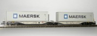 "Rocky-Rail 60100 - AAE Sggmrss 90 mit 2 Containern ""Maersk"" grau"