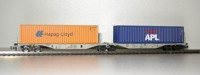 "Rocky-Rail 60114 - AAE Sggmrss 90 mit Container ""Hapag-Lloyd"" orange + Container ""APL"" blau"
