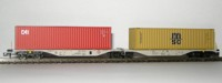 "Rocky-Rail 60115 - AAE Sggmrss 90 mit Container ""CAI"" rot + Container ""msc"" gelb"
