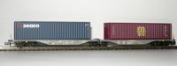 "Rocky-Rail 60140 - AAE Sggmrss 90 mit Container ""GeSeaco"" blau + Container ""msc"" bordeaux"