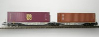 "Rocky-Rail 60141 - AAE Sggmrss 90 mit Container ""msc"" bordeaux + Container ""Triton"" braun"