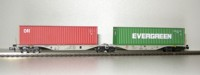 "Rocky-Rail 60145 - AAE Sggmrss 90 mit Container ""CAI"" rot + Container ""Evergreen"" grün"