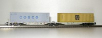 "Rocky-Rail 60147 - AAE Sggmrss 90 mit Container ""Cosco"" grau + Container ""MSC"" gelb"